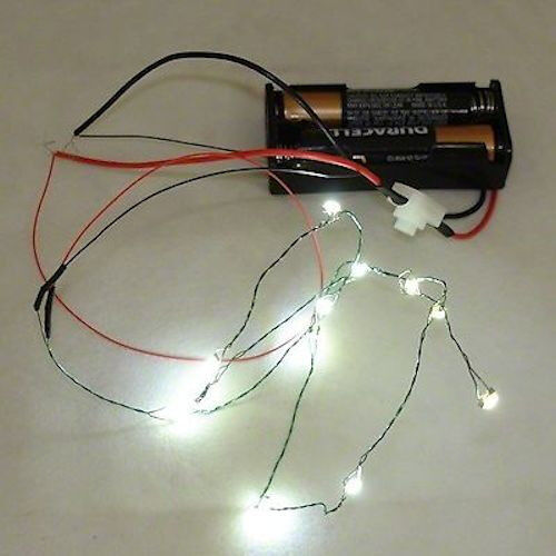 12 Working Cool White LED Christmas Lights Battery