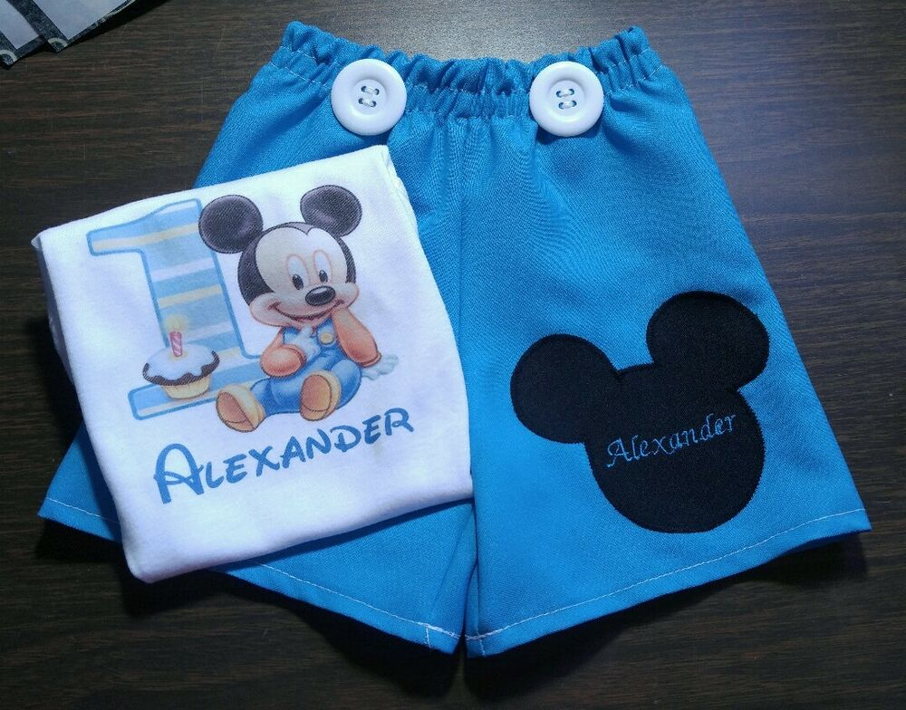 Baby Mickey Mouse First Birthday Outfit set, 12M - 18M ...