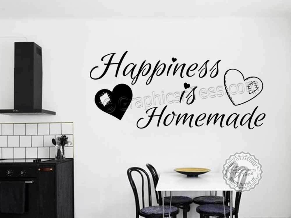 kitchen wall sticker, happiness is homemade, family wall sticker