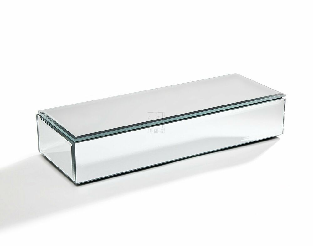 jewelry boxes with mirrors oblong mirrored jewelry box ebay 7210