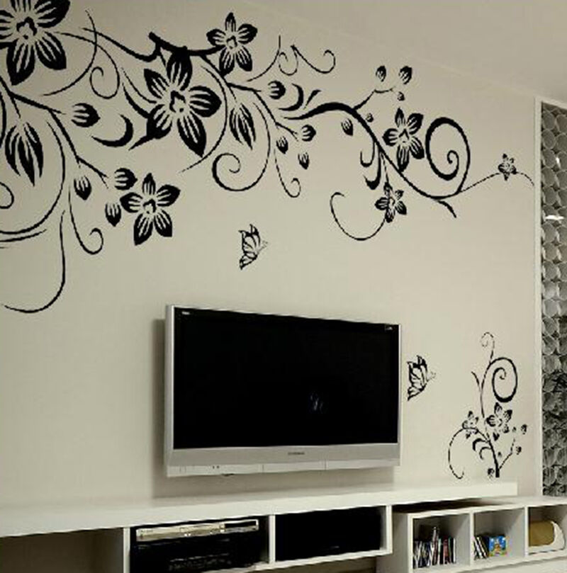 Removable vinyl decal art mural family home living room for Salle de bain design avec décoration murale stickers muraux autocollants