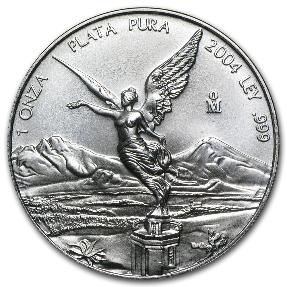 2004 1 Oz Silver Mexican Libertad Coin Brilliant