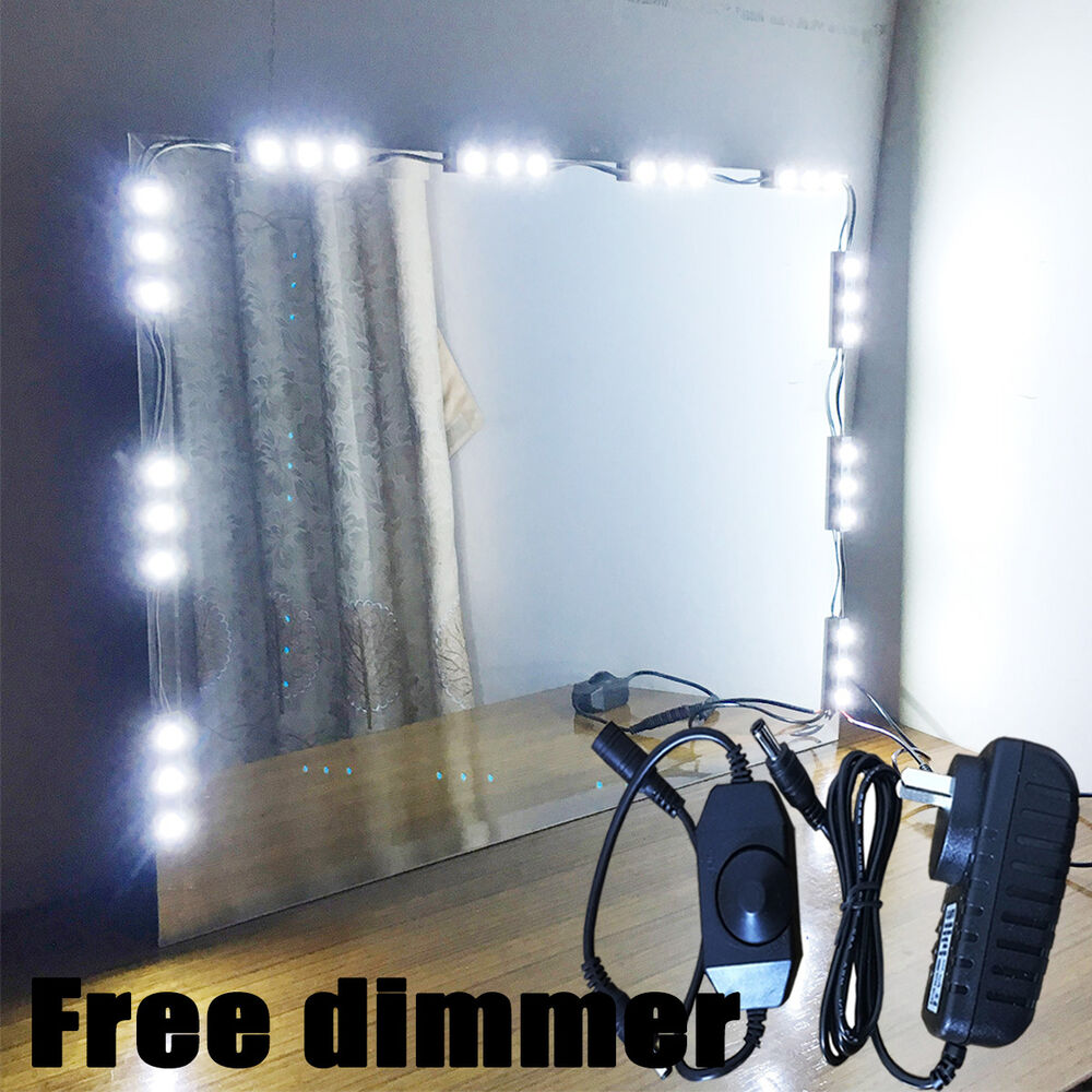 mirror led light for cosmetic makeup vanity mirror lighted. Black Bedroom Furniture Sets. Home Design Ideas