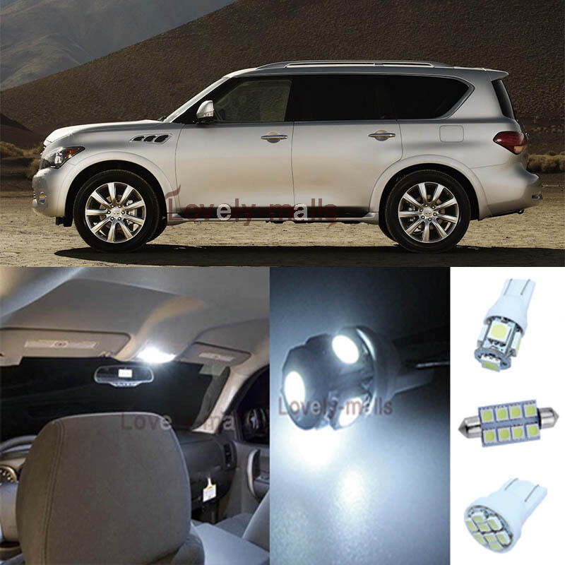 2012 Infiniti Qx Interior: 11Pcs White Map Lights Interior LED Package Kit For