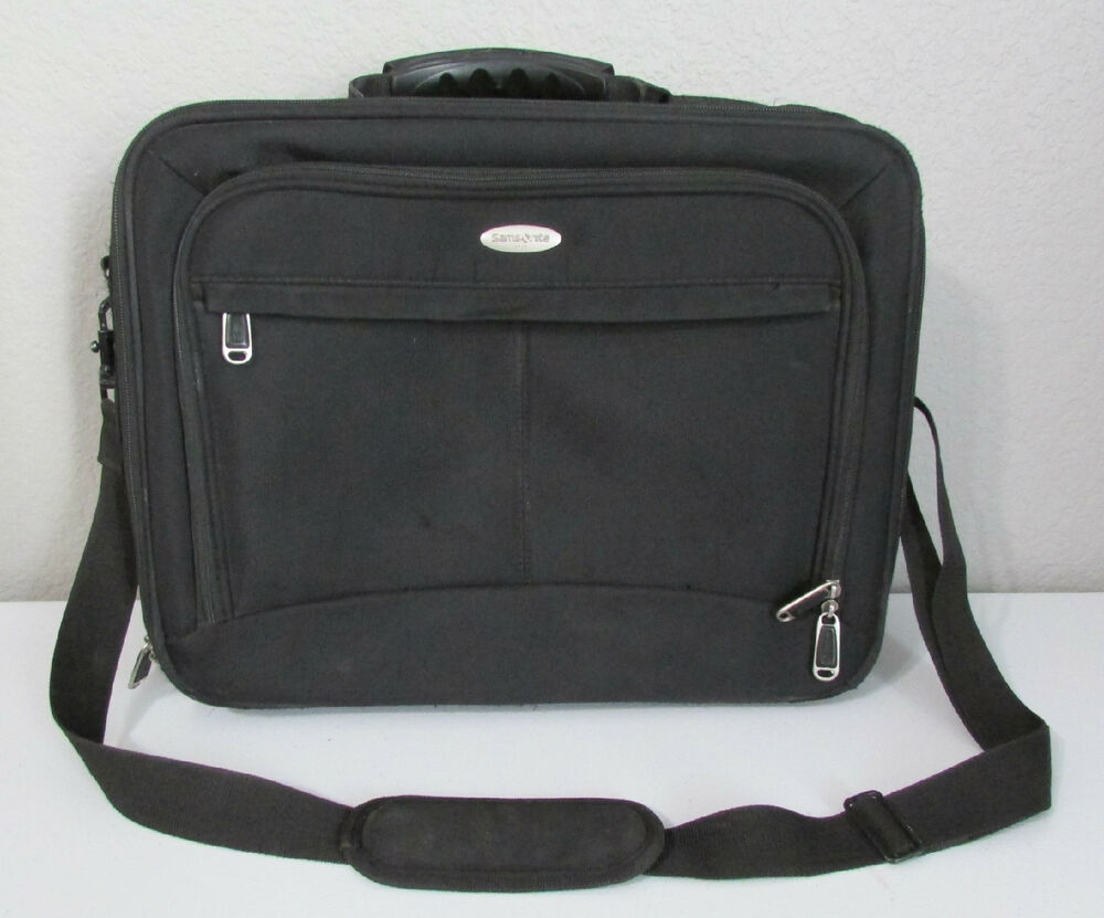 Samsonite Laptop Soft Shell Black Computer Briefcase Carry ...