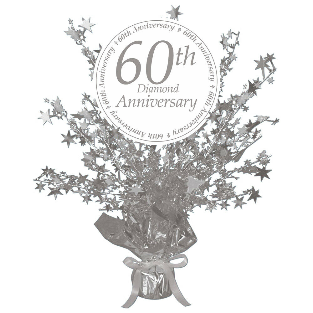 60th Anniversary Party SILVER CENTERPIECE DECORATION | eBay