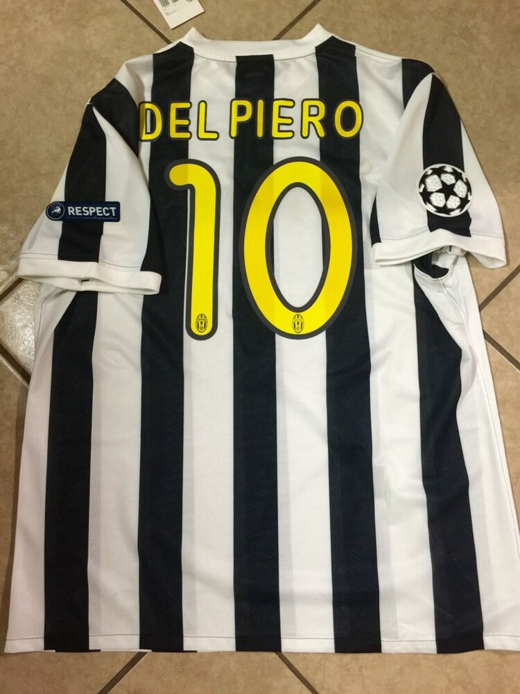 168aa5b91 Italy Juventus Del piero Player Issue Football Soccer Jersey Nike Shirt  Unique