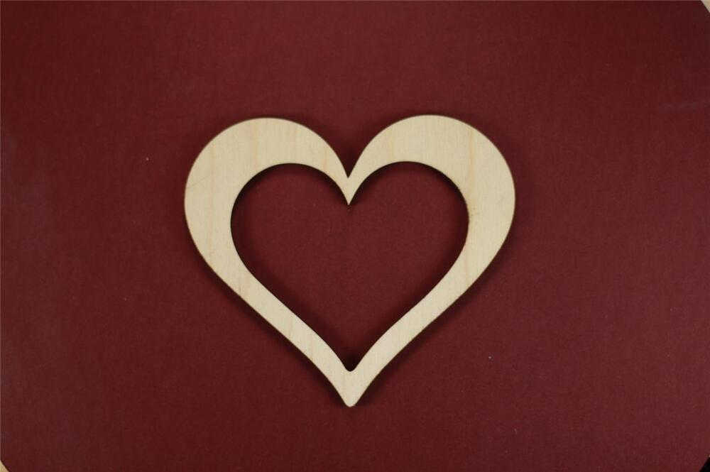 Wood Craft Frame With Heart