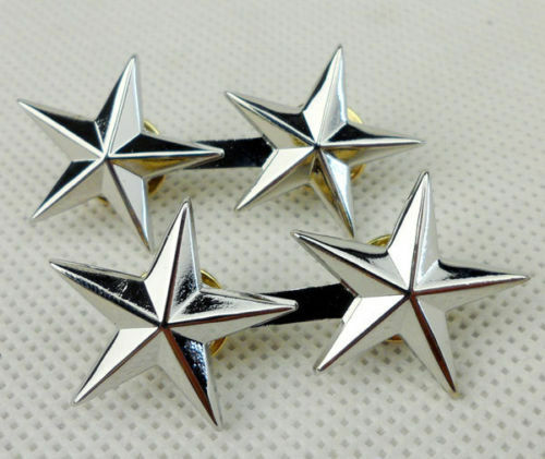 A PAIR WW2 US MILITARY ARMY TWO STARS MAJOR GENERAL RANK