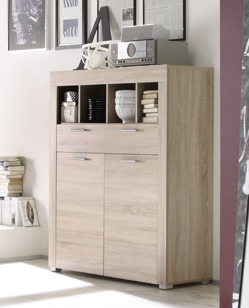 kommode wohnzimmer schrank boom eiche sonoma s gerau hell. Black Bedroom Furniture Sets. Home Design Ideas