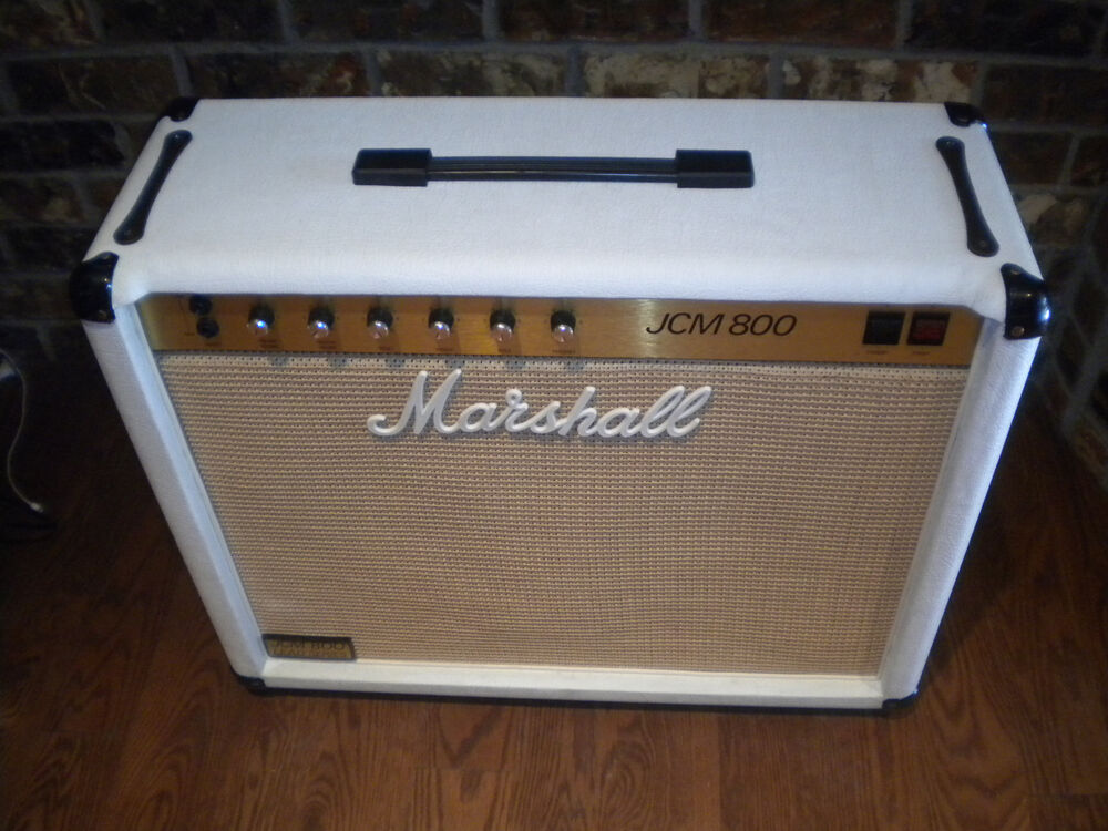 1983 white marshall 50w jcm 800 tube guitar amplifier combo amp 2x12 celestions ebay. Black Bedroom Furniture Sets. Home Design Ideas