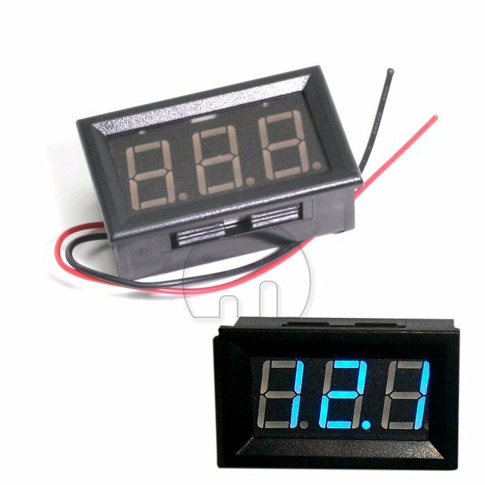 LED Volt Meter Voltage Gauge BLUE Panel Voltmeter Display