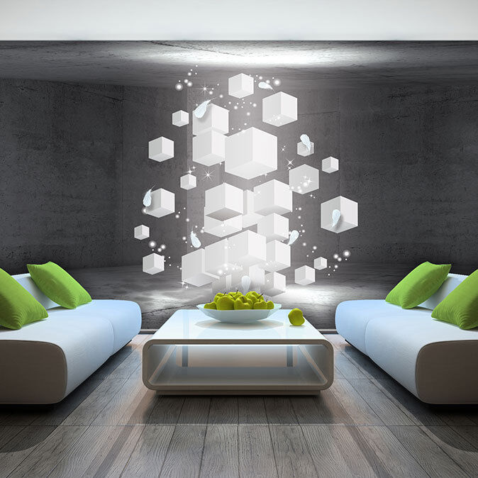 foto wandbild fototapete tapeten tapete quadrat 3d kunst wand weiss 3fx3377p4 ebay. Black Bedroom Furniture Sets. Home Design Ideas