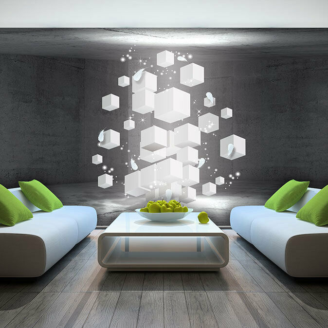 foto wandbild fototapete tapeten tapete quadrat 3d kunst wand weiss 3fx3377p8 ebay. Black Bedroom Furniture Sets. Home Design Ideas