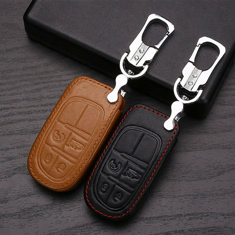 1x New Remote Key Fob Case Leather Holder Cover Jeep
