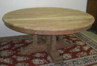 "Antiques Style Country French Barley Twist 72"" Round Solid Hardwood Dining Table"