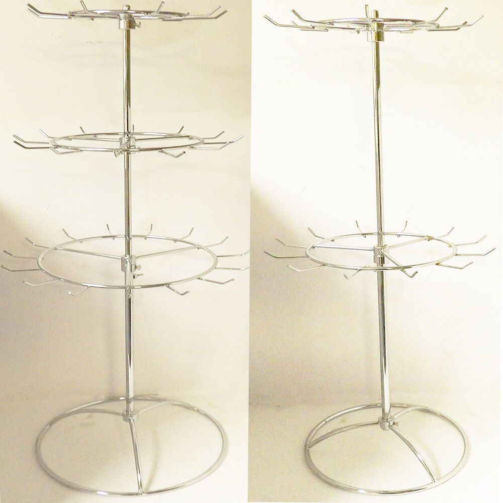 Diy 3 Tier Jewelry Stand: New 2, 3 Tier Metal Rotating Bag Necklace Holder~Organizer