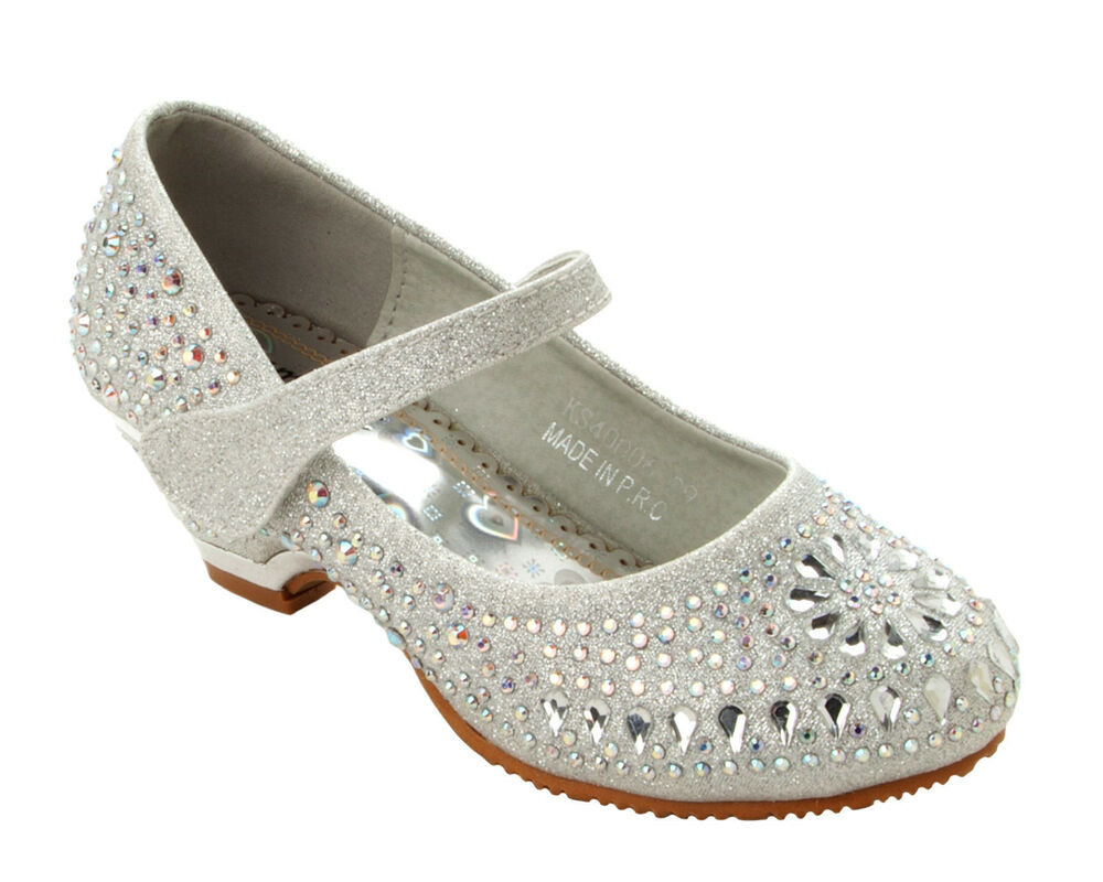 Wedding shoes with all-over embellishment are best worn with an ankle-length or short wedding dress. Otherwise, your gown may get snagged on the sparkle! Browse more traditional wedding accessories.