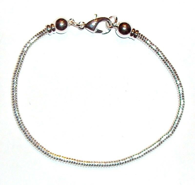 br264 add a bead silver chain bracelet w removable end