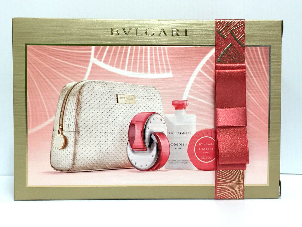 omnia coral by bvlgari for women 2 2 oz edt lotion soap. Black Bedroom Furniture Sets. Home Design Ideas