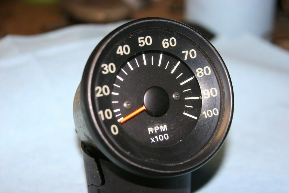 Vintage motorcycle tach tachometer electric 10 000 rpm ebay for 10000 rpm dc motor