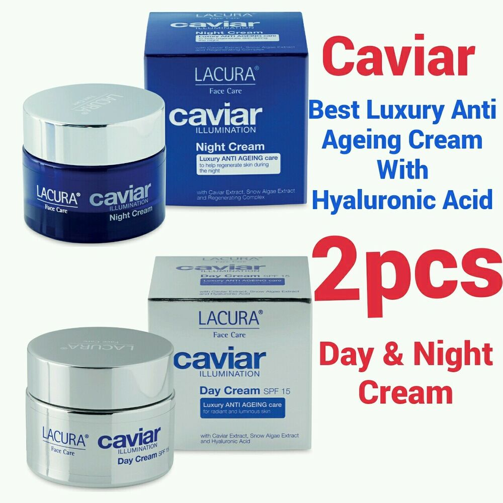 2×- HYALURONIC ACID EXTRACT BEST ANTI AGEING CAVIAR DAY