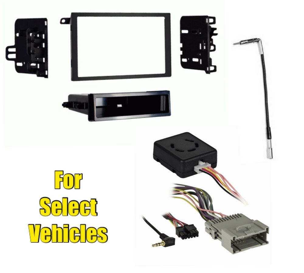 Stereo radio install dash kit wire harness antenna