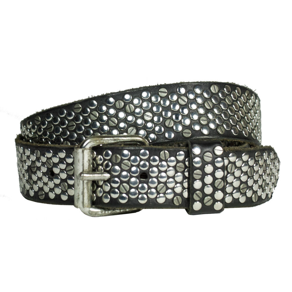 diesel belt bivitex belt leather with rivets new wow