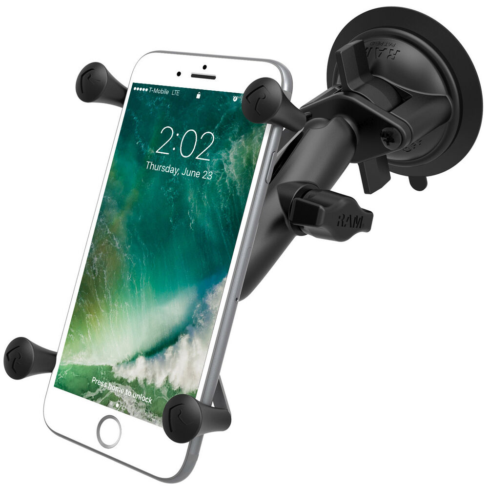 ram b 166 un10u ram mounts suction cup mount with large phone phablet x grip ebay. Black Bedroom Furniture Sets. Home Design Ideas