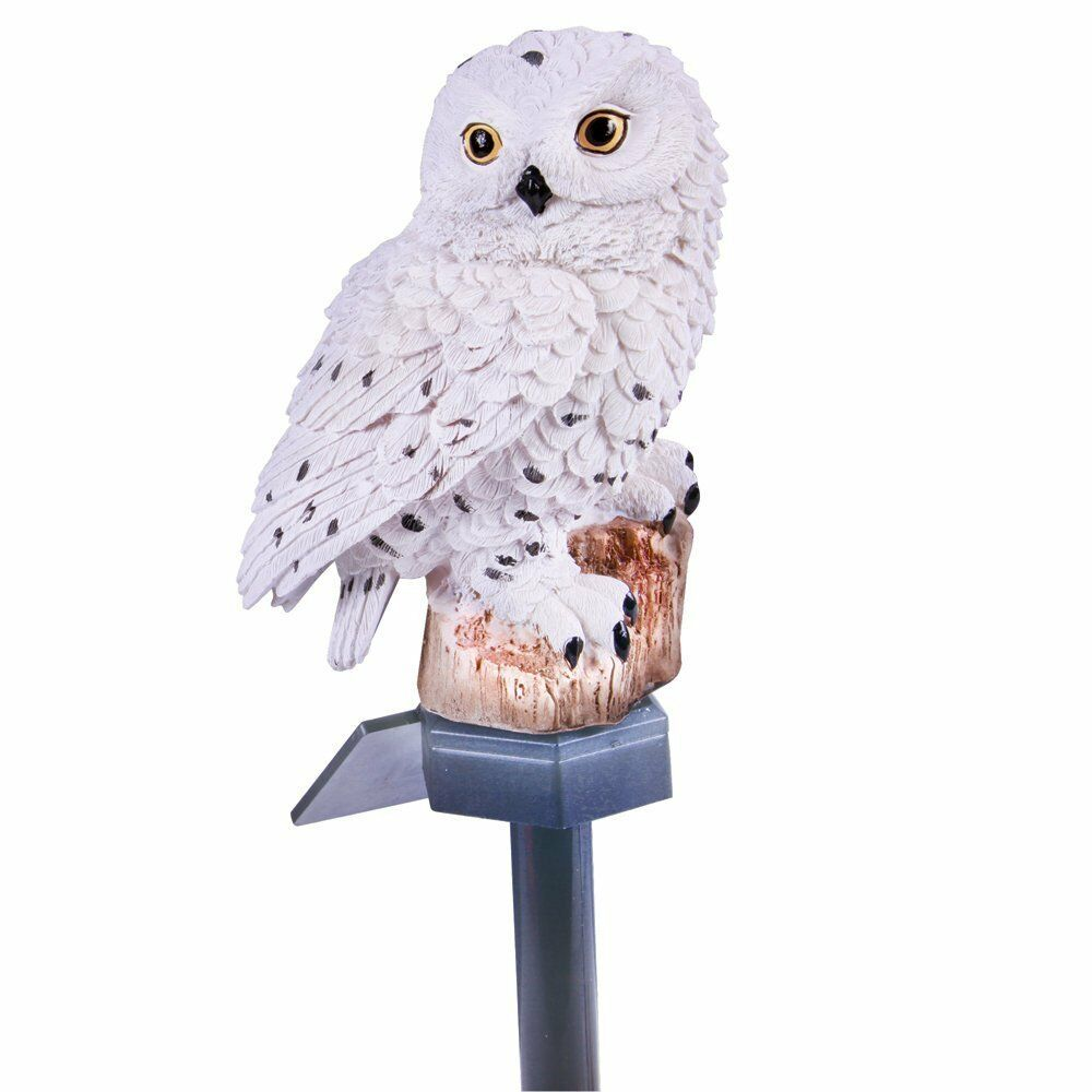 New White Owl Solar Stake 5 1 Quot L X 18 0 Quot H Polyresin