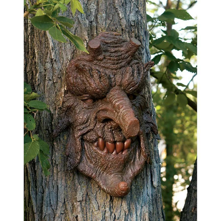 Outdoor Tree Face Decorations