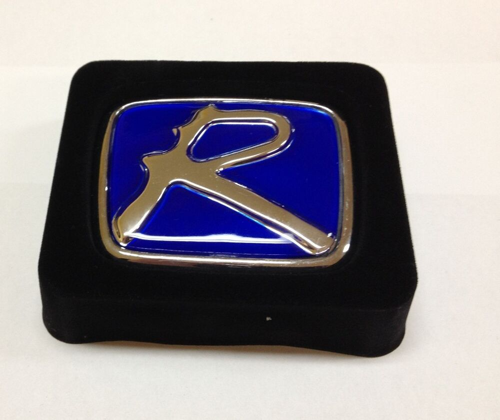 "BLUE ""R ""HONDA EMBLEMS BADGE JDM CIVIC SI ACCORD HONDA"