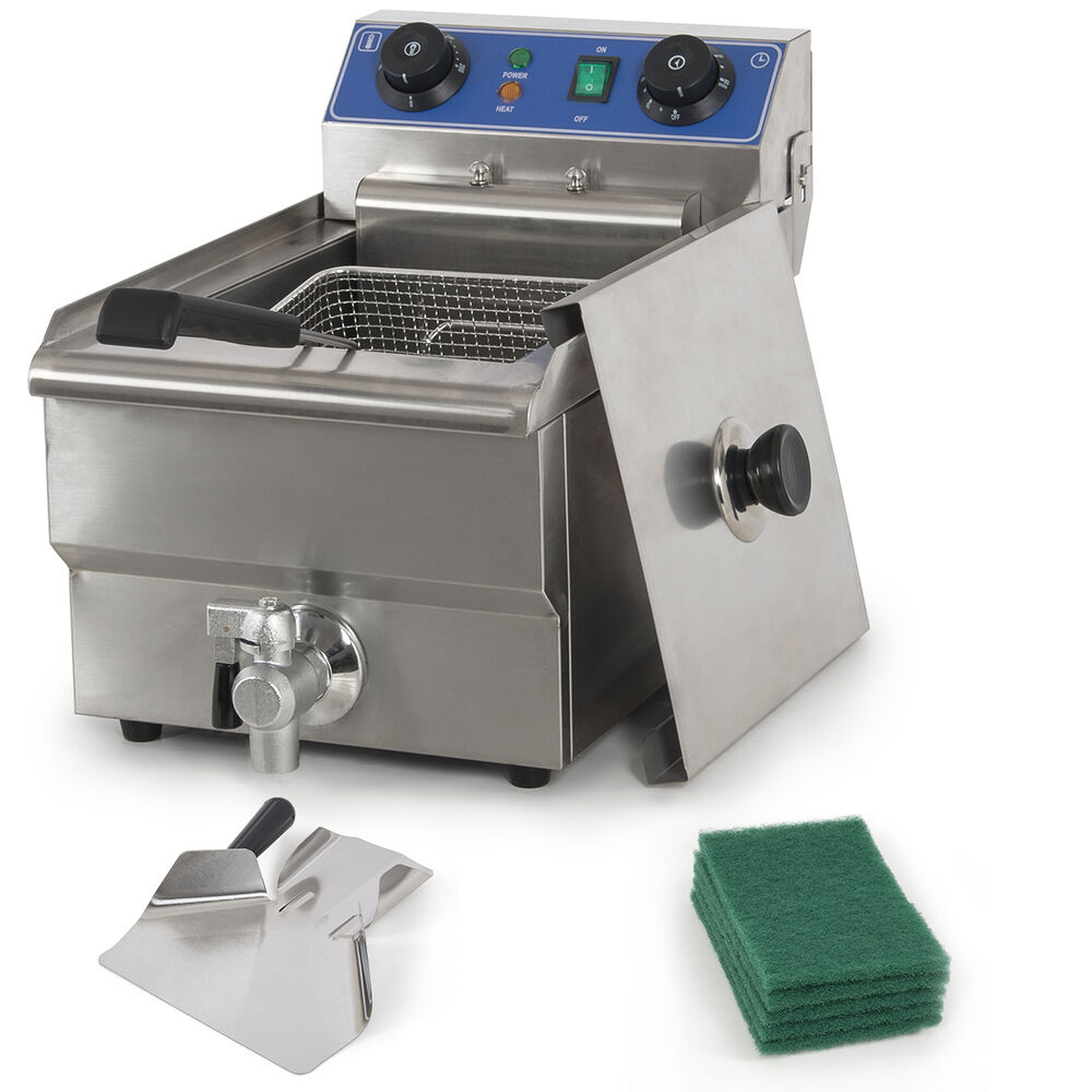 Commercial Restaurant Electric 10L Deep Fryer w/ Timer and