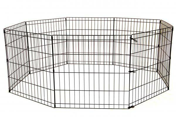 Portable Outdoor Dog Enclosures : Dog playpen small large portable exercise pen metal indoor