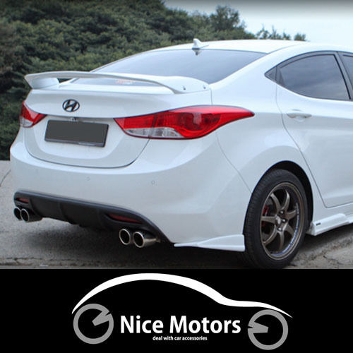 Spec Gt Rear Trunk Wing Spoiler Unpainted For Hyundai Elantra 2011 2015 Ebay