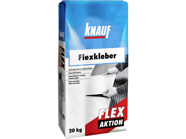knauf flexkleber flex aktion 20 kg fliesenkleber wand und boden ebay. Black Bedroom Furniture Sets. Home Design Ideas