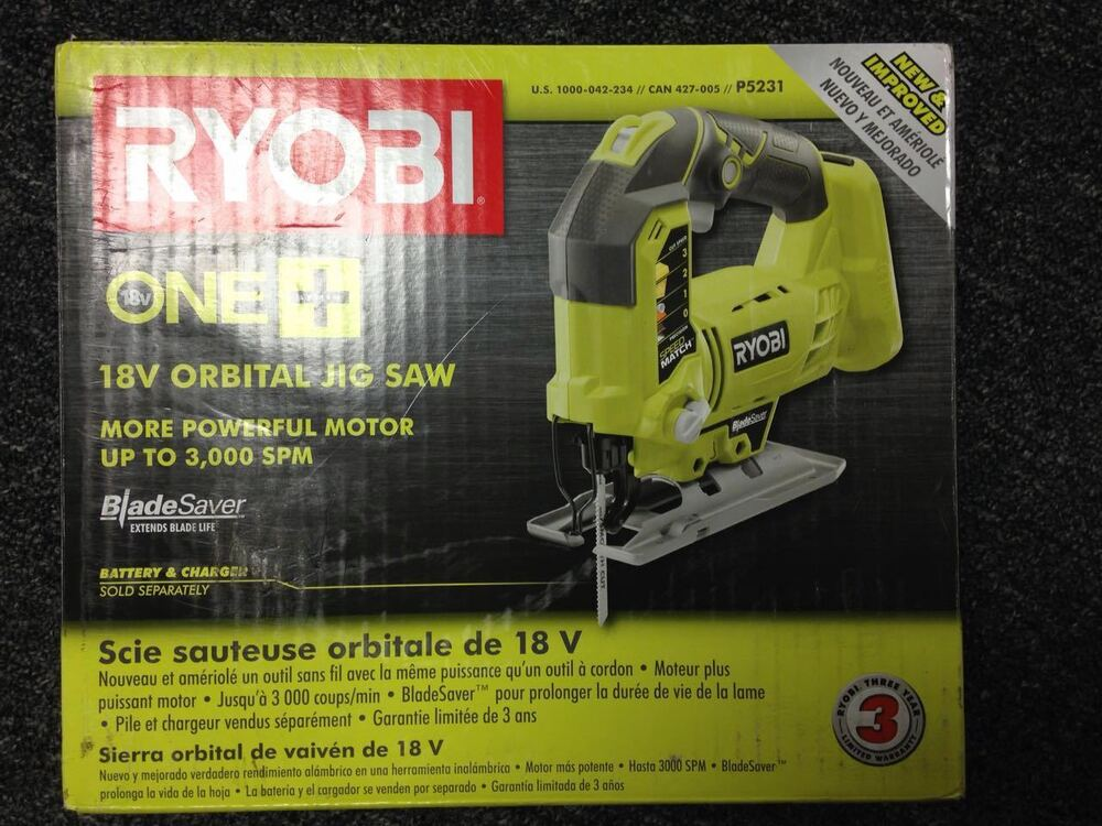 Ryobi p5231 18 volt one orbital jig saw newly upgraded from p523 ryobi p5231 18 volt one orbital jig saw newly upgraded from p523 tool only ebay greentooth Images