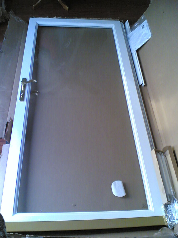 Nib nice larson secure elegance 36 x 80 almond storm door for 48 inch retractable screen door