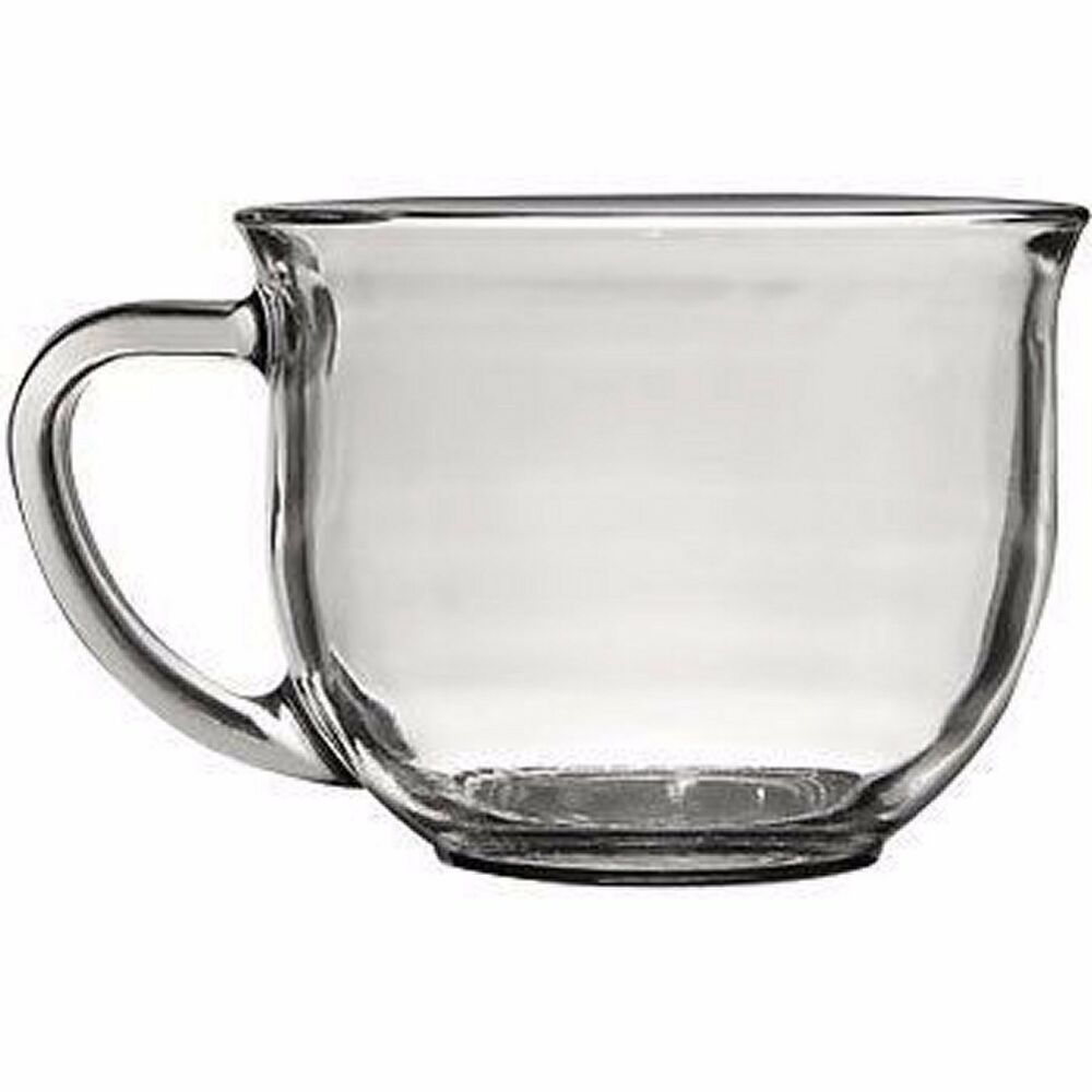 Coffee Clear Glass Mug Cup Tea Mugs Large Double Cups Ebay