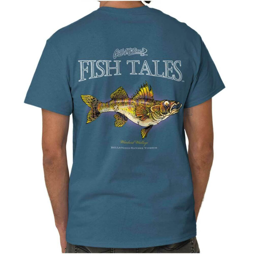 Warlord walleye fish sporting goods fishing gear funny for Fishing t shirts brands