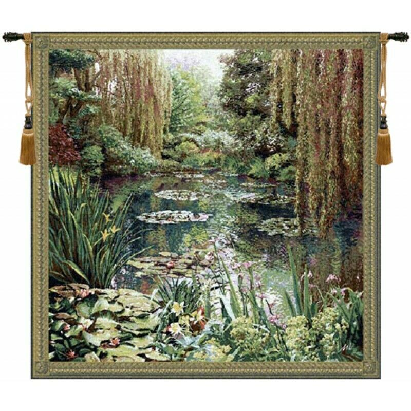 Monet Vertical Large Fine Art European Tapestry Wall