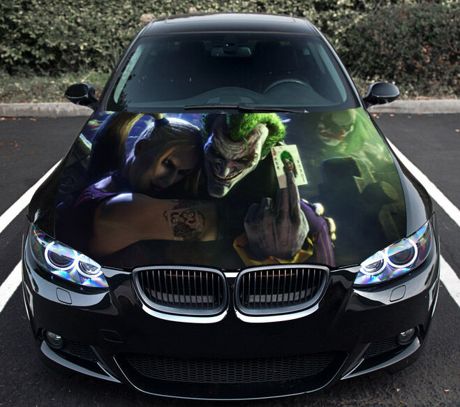 Vinyl Car Hood Graphics Decal The Joker Harley Quinn