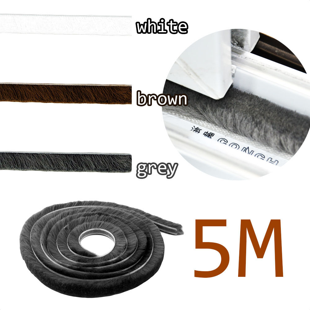 5m door window frame draught excluder brush pile seal for Door draught excluder