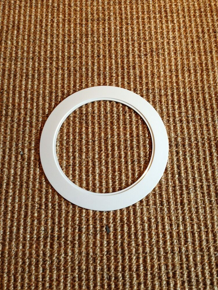6 Quot Inch Recessed Can Light Over Size Trim Ring White Fit