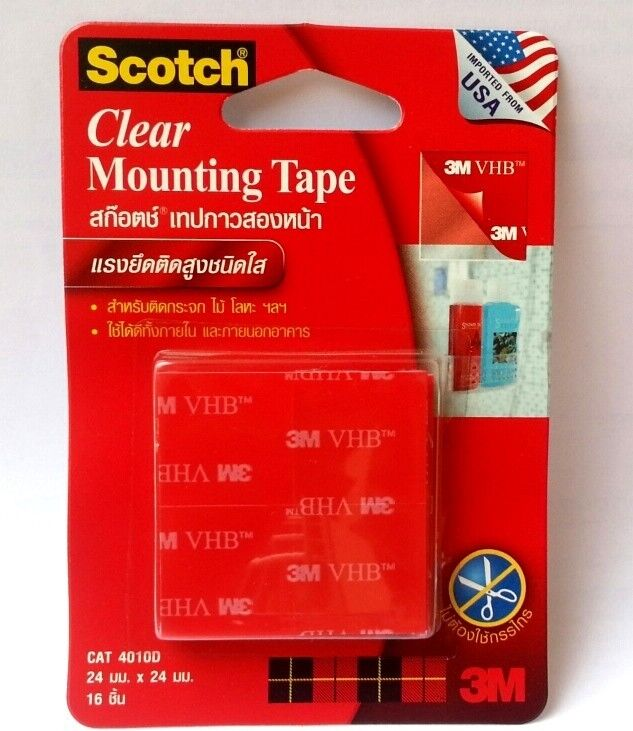 Scotch 3m 4010d Clear Mounting Tape Adhesive Permanent