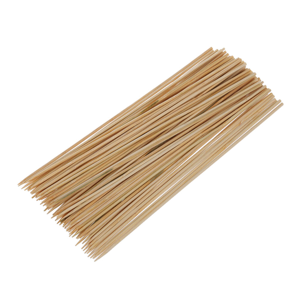 95 pcs camping wooden bamboo bbq skewers barbecue shish kabob sticks n3 ebay. Black Bedroom Furniture Sets. Home Design Ideas