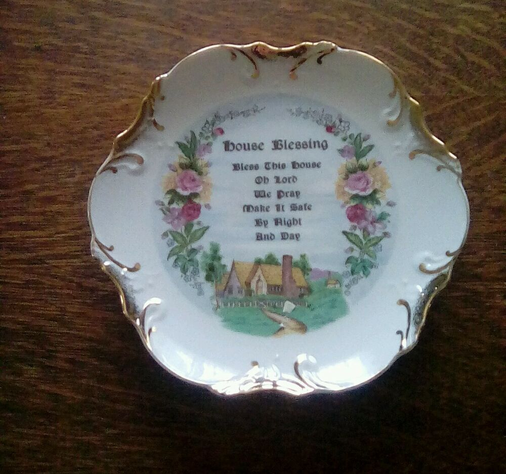 Vintage House Blessing Decorative Plate Made In Japan Ebay