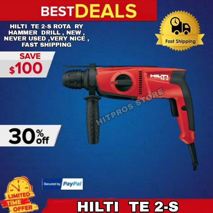 hilti te 2 s rota ry hammer drill new never used very. Black Bedroom Furniture Sets. Home Design Ideas