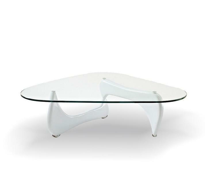 Modern Isamu Noguchi Coffee Table In White #3009