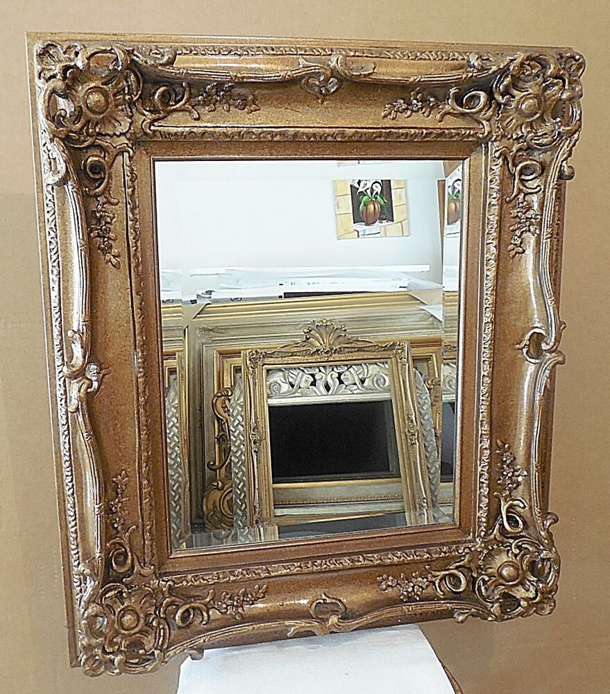 Large wood resin 27x31 rectangle beveled framed wall for Big framed mirror